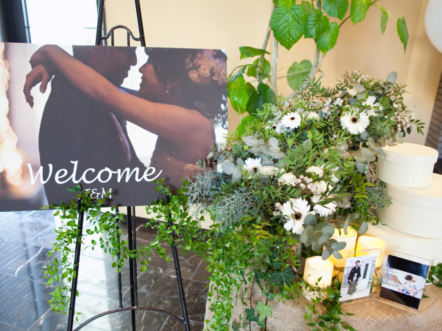 婚礼アイテム展示