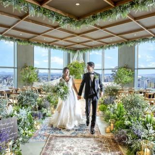 【結婚式を凝縮体験♪】天空のチャペルで挙式体験×千屋牛の試食付!