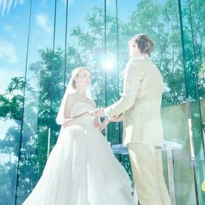緑・青空・光に包まれながら愛の誓いを|シャルマンシーナ 東京(CHARMANT SCENA TOKYO)の写真(3298418)