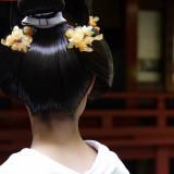 和装にはおカツラ支度がとても似合います。