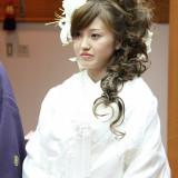 洋髪スタイルで現代風の神前挙式も可能