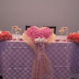 ハートの形に仕立てたメインテーブル装花です☆フラワーウエディングをテーマにしたはなゆづきならではコーディネートです!