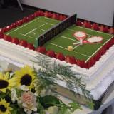 テニス大好き!そんなカップルにはこんなケーキも出来ちゃいます。