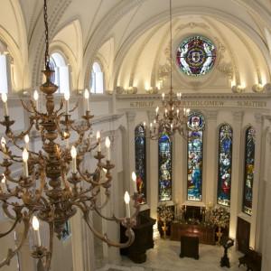 ステンドグラスは 英国の教会で使われていた本物のアンティーク|Neo Japanesque Wedding 百花籠  - ひゃっかろう -の写真(1677217)