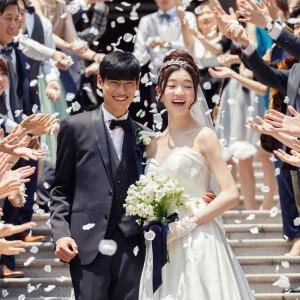 お二人の神聖なウェディングセレモニー|Neo Japanesque Wedding 百花籠  - ひゃっかろう -の写真(3009948)