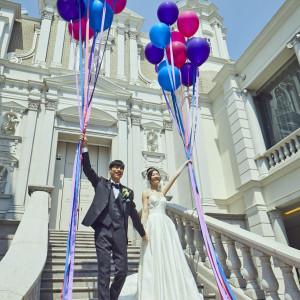 バルーンを使用した演出で映え写真を|Neo Japanesque Wedding 百花籠  - ひゃっかろう -の写真(3009953)