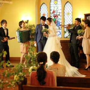 生演奏を取り入れたアットホームな結婚式|グランシェル・ルミエール (GRAND-CIELグループ)の写真(2834635)