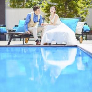 【プール】水辺の貸切邸宅でお二人だけの特別な時間を過ごせます|ララシャンスベルアミー 盛岡の写真(1840371)