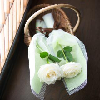 挙式で使用するお花をプレゼント!