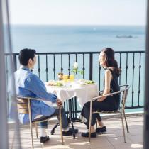 葉山の海前で特別な1日の始まり|葉山ホテル音羽ノ森  別邸の写真(4215059)