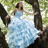 花嫁に幸せをもたらすとされるサムシングブルーのドレス