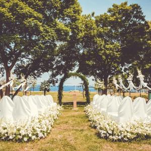 海・空・緑の大自然に包まれたオーシャンビューのガーデン挙式で大切なひとときを。ゲストの心に残る感動挙式を叶えよう! みなとみらい sea&terrace ~DANZERO~の写真(3623696)