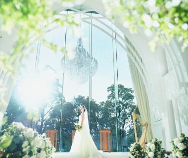たくさんの光が差し込む空間で永遠の愛を誓う