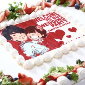世界で一つだけの【オリジナルフォトケーキ】をパティシエがご用意します♪ビーチフォトのお写真で★