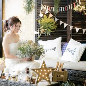 【会場】Lover's Place前撮りの際には、ソロ撮影もご希望であれば可能です。ソロ撮影することによって、ウェルカムボードのバリエーションが増えますよ!|Wedding Space Lover's Placeの写真(4005272)