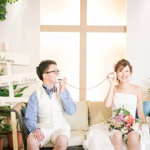 【会場】Alohau前撮り撮影には、ブーケやブートニア、ヘッドドレスなどもご用意しており、撮影アイテムもたくさんご用意しております!|Wedding Space Lover's Placeの写真(4005168)