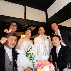 新郎新婦ゲスト席へ フォトタイム|藤右ェ門の写真(1723668)