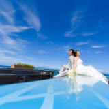 270度に広がる碧い海と青い空を二人占め