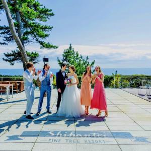 地面アートは集合写真にピッタリ♪ 指帆亭 Shihantei Pine Tree Resortの写真(2631506)