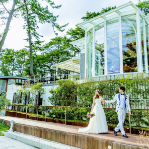 挙式後にゆっくりお散歩♪ 指帆亭 Shihantei Pine Tree Resortの写真(2631502)