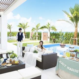 【福岡サロン】海へと繋がる水の祭壇★プライベートウェディングが実現♪