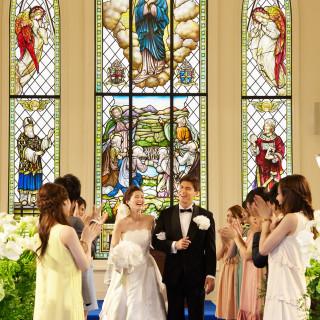 第一部【平日プレミアム】輝く大聖堂で感動挙式体験×豪華フルコース