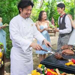 新鮮な旬食材を贅沢に使用したBBQ演出でゲストをおもてなし|the Terraceの写真(3176002)