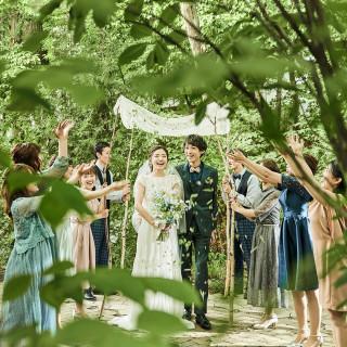 《最大25万特典》貸切Wを体感!森のチャペルで花嫁体験&白老牛コース