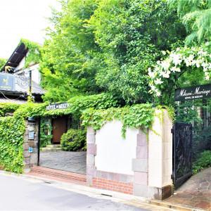 都心であることを忘れるような・・・閑静な住宅街に佇む緑豊かな一軒家レストラン