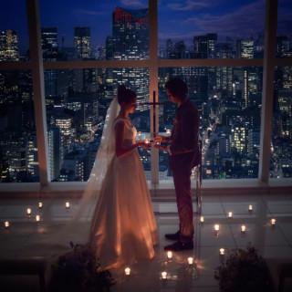 【平日限定特典付】東京一望!絶景Wedding体験×豪華試食