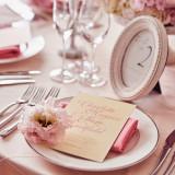 ピンク×白のコーデは花嫁の憧れ