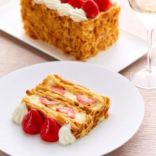 ◆平日限定◆銀座マキシム「苺ミルフィーユ」×特製フレンチ試食