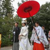 進雄神社だけの「御神橋」廻り参進の儀。