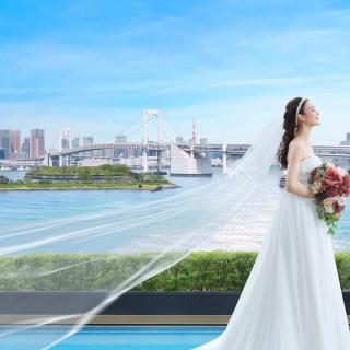 人気の春婚【桜×東京ビュー×海テラス】でリゾ婚体験&春食材のコース試食