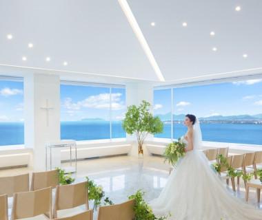 【The Sky】琵琶湖が一望できる最高のロケーションで、永遠の誓いを