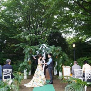 軽井沢の自然に見守られながら永遠の愛を誓う|ゆとりろ軽井沢ホテルの写真(3680005)