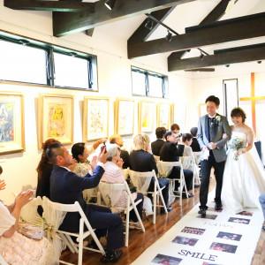 愛の画家「シャガール」の作品に囲まれた、アート空間での挙式。