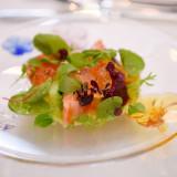 色とりどりの旬の食材をシェフが厳選して使用しているので、新鮮で美しいお料理が楽しめます