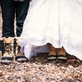 テーマにあわせて、二人の靴も変えられます。テーマが冬のお二人はスノーブーツでアレンジ