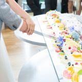 150cmの長〜いWDロールケーキ入刀は人気の演出!