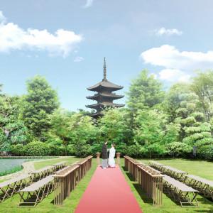 【通常非公開】八坂の塔を眺める庭園挙式体験フェア