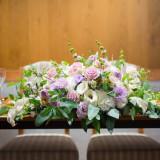 高砂席の卓上装花の一例です