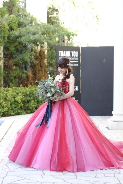 さんのカラードレスの写真