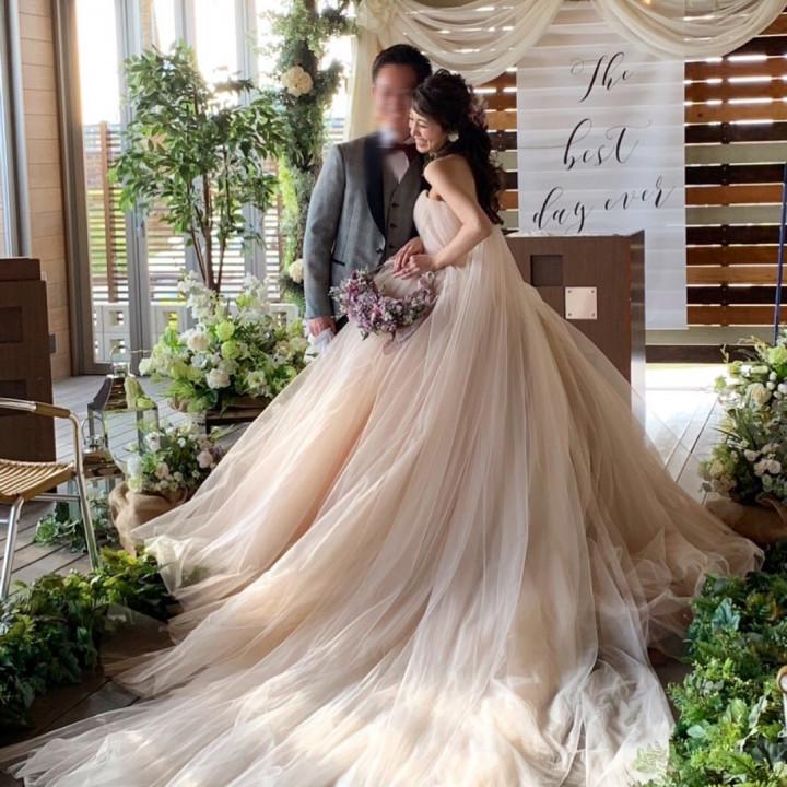 グリーンいっぱいの natural&cozy wedding