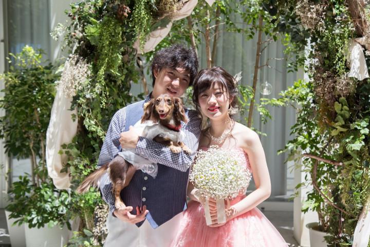大切な愛犬と一緒の結婚式