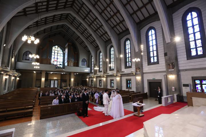 印象的な教会挙式