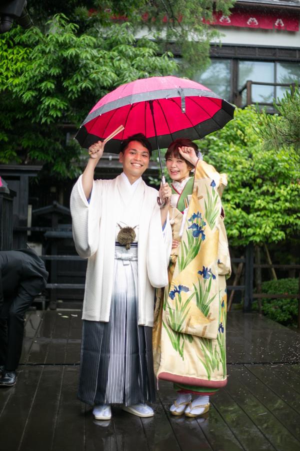 たくさんのご縁、巡り合わせに導かれたこの日。輝く雨の中で。