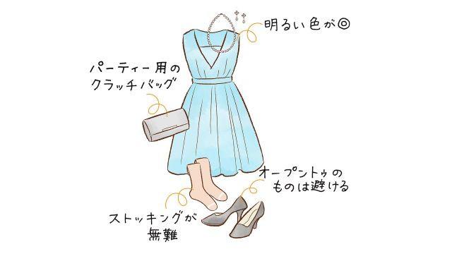 d805371717a64  ゲスト向け 結婚式二次会の服装マナー マナーがわかるイラスト付き