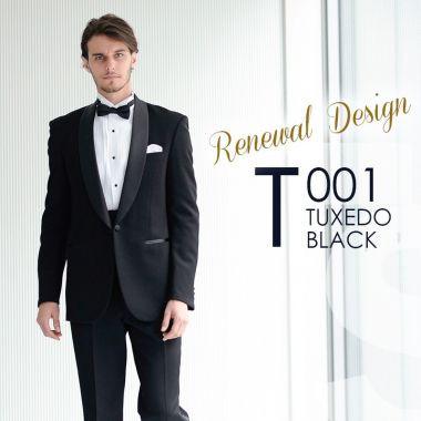 【タキシード】 夜の結婚式に適した準礼装。黒のタキシード
