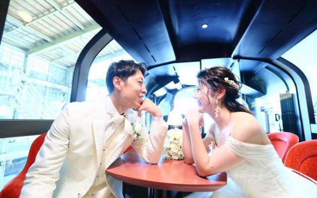 【2組限定、50万円!】リゾート列車「雪月花」で挙げる結婚式を期間限定募集♪